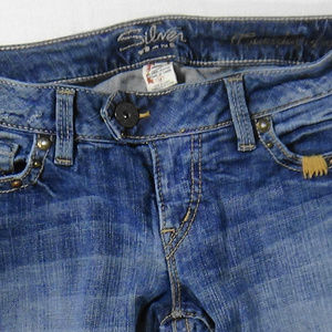 Silver Jeans Pants - SILVER JEANS TUESDAY MED BLUE WASH BOOT CUT  SZ 28
